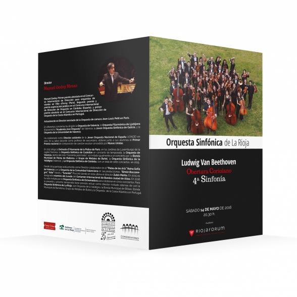 Programa de mano - Concierto Orquesta Sinfónica