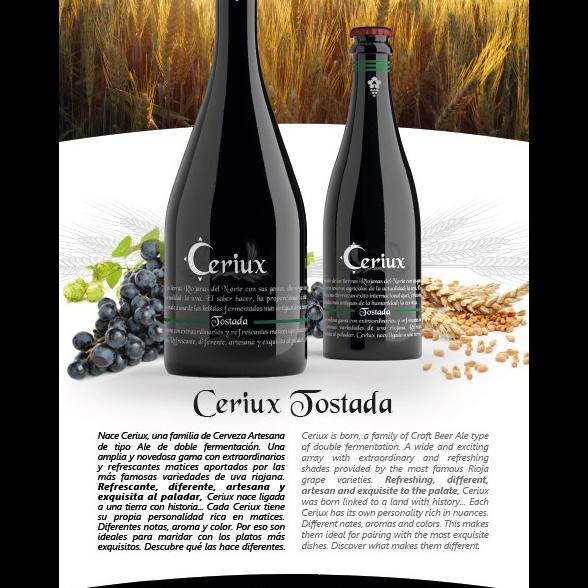 Ficha de producto Cerveza Ceriux Tostada