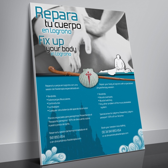 cartel repara tu cuerpo