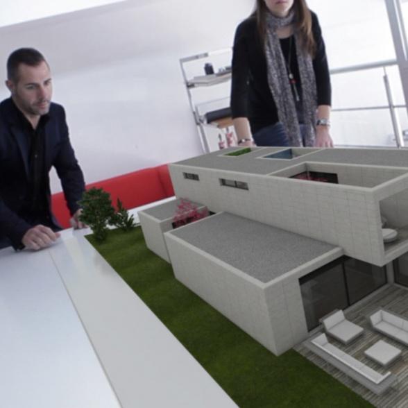 Integración infoarquitectura 3D en movimiento sobre video real