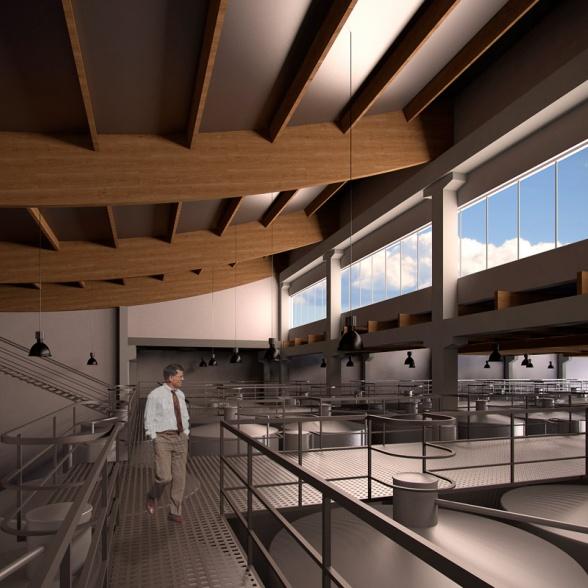 Infoarquitectura 3D Bodega en Aldeanueva