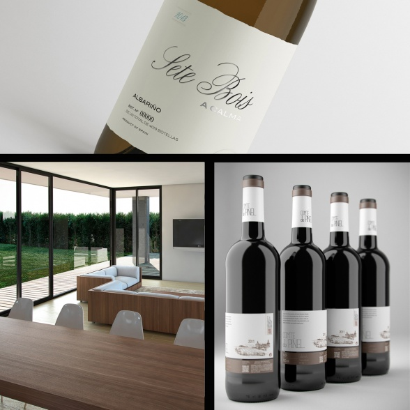 Bodegones y packaging para vino en 3D