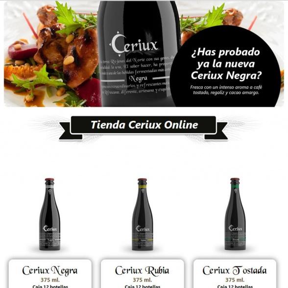 Portal Web con Tienda Online para Cerveza Ceriux