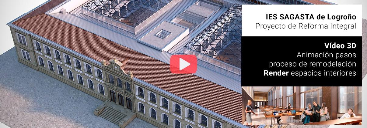 Ladinamo, Vídeo 3D presentación proyecto remodelación IES Sagasta