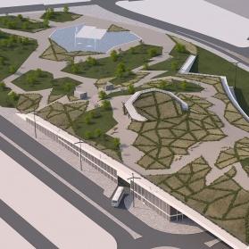 Infoarquitectura 3D Concurso Estación Autobuses Logroño