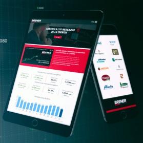 Portal web y muestreo de datos de cotizaciones Brener Energy Brokers