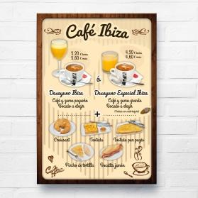 Cartel caballete Café Ibiza