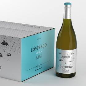 caja y botella de Lóstrego Godello