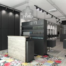 Interiores 3D Peluquería