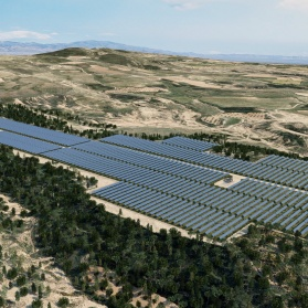 Planta de energía solar- Energía renovable