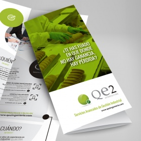 Folleto corporativo para QE2 eConsulting
