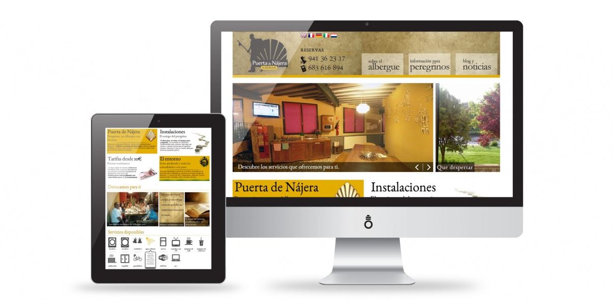 Portal Web Albergue Puerta de Nájera