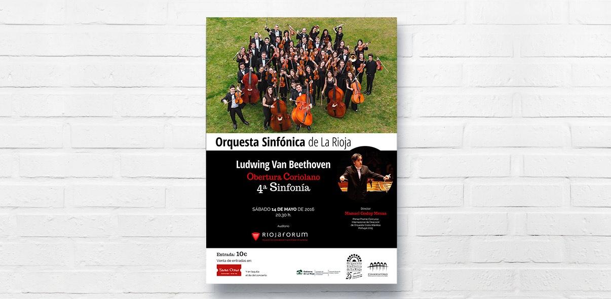 Cartel Concierto Orquesta Sinfónica de La Rioja