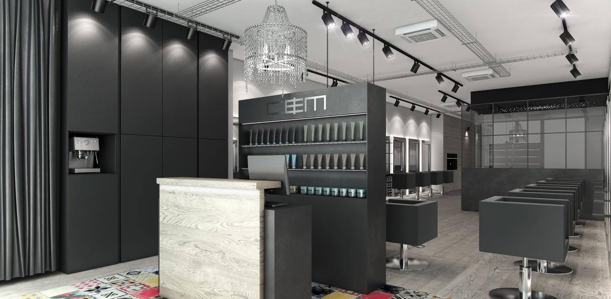 Interiores 3d peluquer a ladinamo - Proyecto de peluqueria ...