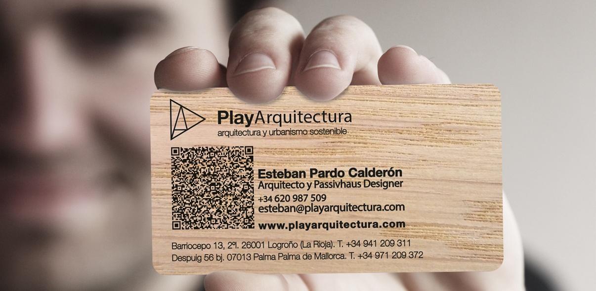 Tarjetas de madera
